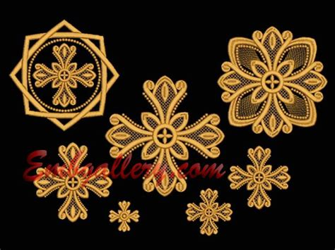 embroidery designs religious quot a set of crosses for church vestments quot