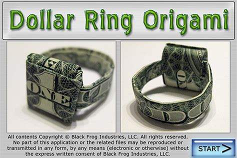 How To Make A Paper Dollar Ring - black frog industries llc