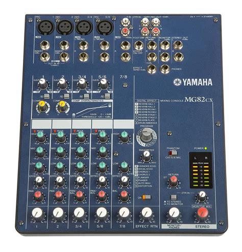 Baru Mixer Yamaha Mg82cx Yamaha Mg82cx 8 Channel Stereo Mixer W Digital Effects