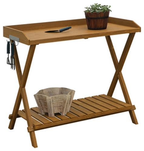 folding potting bench outdoor folding garden table potting bench with slatted