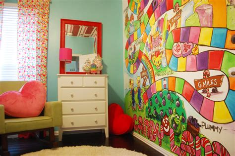 candyland wall mural poppie s land room modern dallas