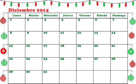 Calendario Diciembre 2014 Calendario Diciembre 2014 Para Imprimir