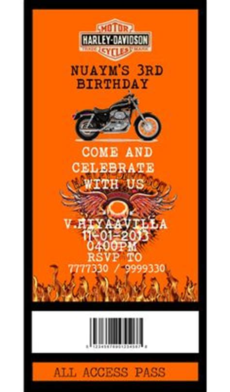 Harley Davidson Motorcycle Baby Shower Invitation Invitations Pinterest Harley Davidson Harley Davidson Invitations Templates