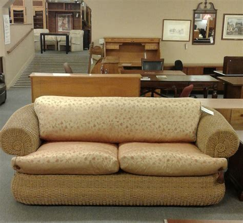 rope couch italian rope weave sofa delmarva furniture consignment