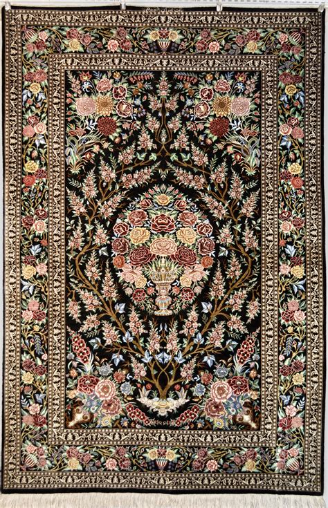 10 To Live By Rug by Tree Of Qum Silk Rug Item Da 1810