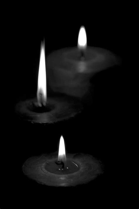 scary Black and White creepy horror fire morbid candles