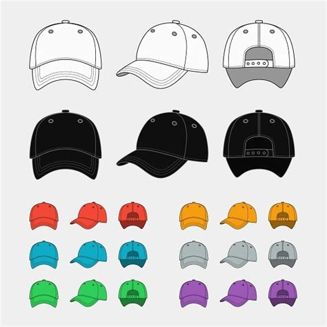 Topi Snapback Blok Ps baseball cap vector template graphics creative market