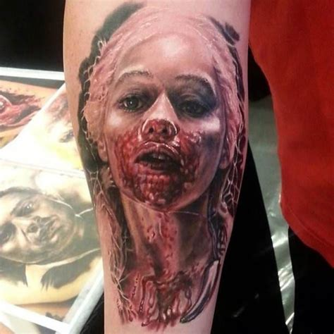 horror woman tattoo motive tattoo tattooed tattoos