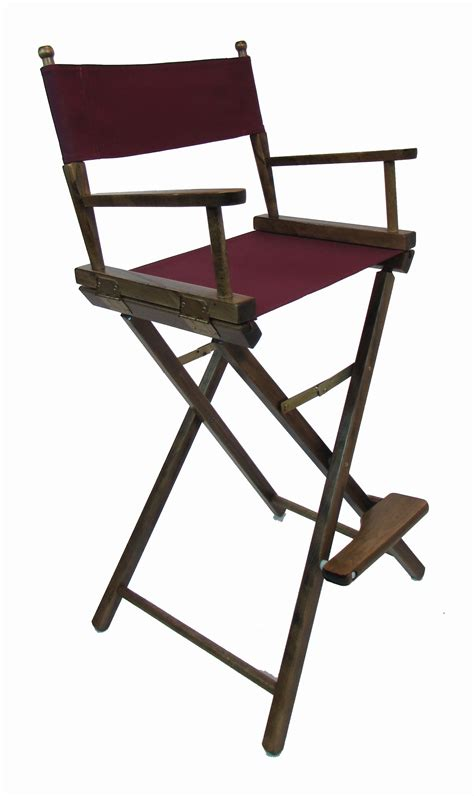 Directors Chair Bar Height by Embroidered Bar Height Walnut Frame Directors Chairs 30