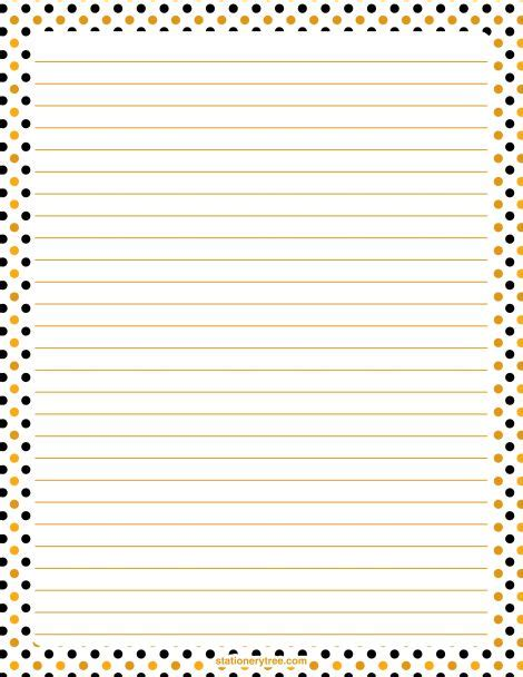printable dot stationery printable halloween polka dot stationery and writing paper