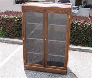 Wood Cabinet With Glass Doors A Resale Wooden Display Cabinet Glass In Doors