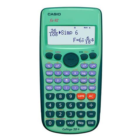calcolatrice casio calculatrice scientifique d occasion casio fx 92 2d