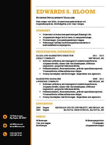Modern Resume Templates 64 Exles Free Download Hloom Professional Resume Templates
