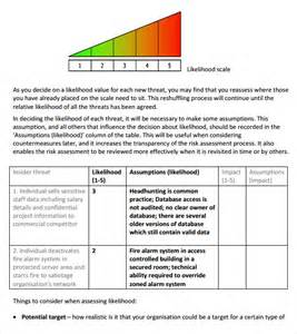 security risk assessment template security risk analysis template risk analysis template