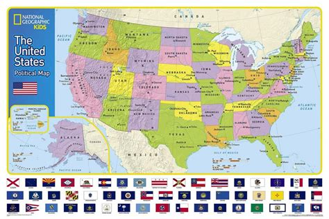 map of usa states to buy buy the united states for laminated national