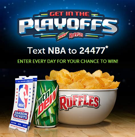 Warriors Playoff Giveaways - ruffles and mt dew get in the playoffs giveaway