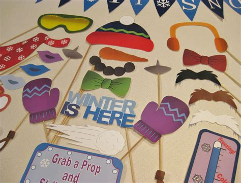 diy in props pdf winter photo booth props decorations craft