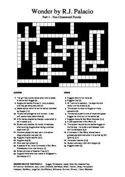 dvd format crossword wonder by r j palacio part 1 fun crossword by m walsh
