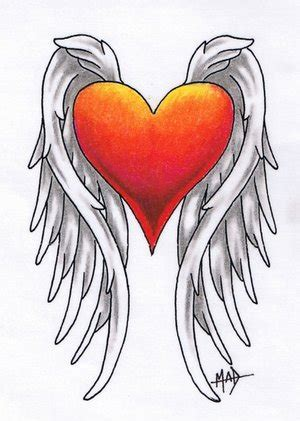 winged heart tattoo designs tattoos tattoos design