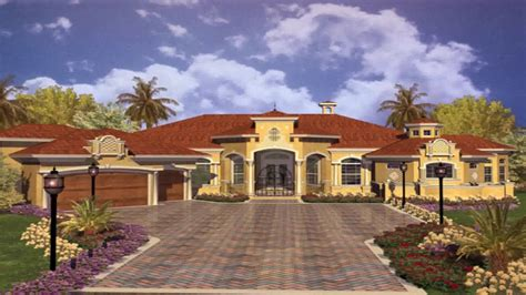 Colonial Luxury House Plans by Spanish Mediterranean Style Homes Youtube