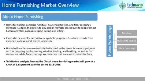 home decor market size global home furnishing market 2014 2018