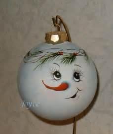 joyce s tole painting snowman ornaments christmas