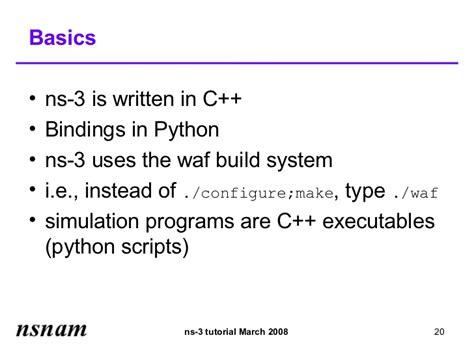 ns3 tutorial ppt tutorial ns 3 tutorial slides