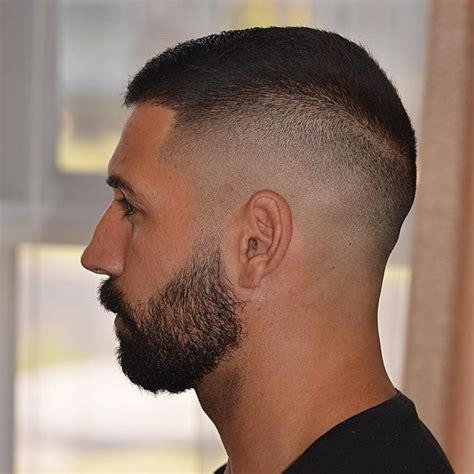 textured buzz crew cut haircut with beard life style by modernstork com