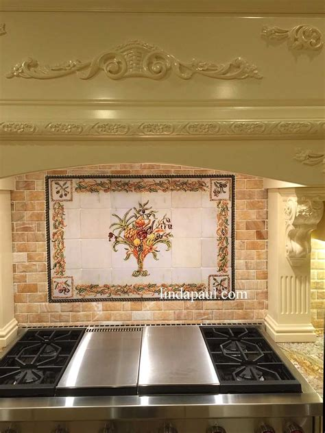 Italian Kitchen Backsplash Italian Design Still Kitchen Tile Backsplash Mural
