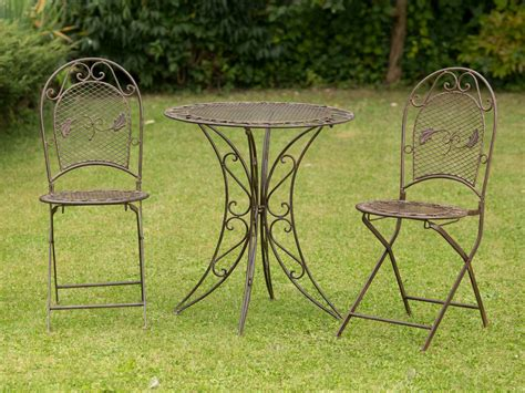 Wrought Iron Patio Furniture Sets Ebay Antique Style Garden Furniture Set Table 2 Chairs