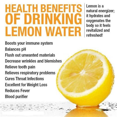 Warm Lemon Water Detox Benefits by Benefits Of Lemon Water Health