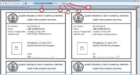 format daftar ulang kartu 3 cara mencetak kartu peserta ujian pada aplikasi pendataan