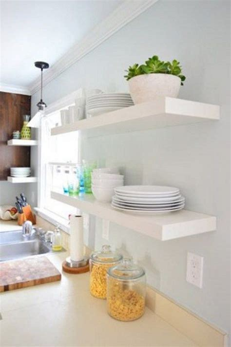 ikea kitchen shelves 27 cool ikea lack shelf hacks comfydwelling
