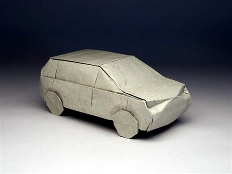 Car Origami 3d - yoshizawa origami doodle 2012