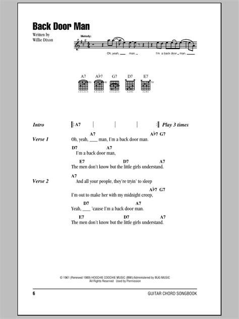 Back At Your Door Lyrics by Back Door Sheet By The Doors Lyrics Chords