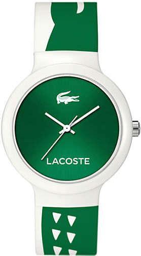 Lacoste 2020066 Unisex Goa White And Green Silicone unisex green and white lacoste goa silicone 2020092