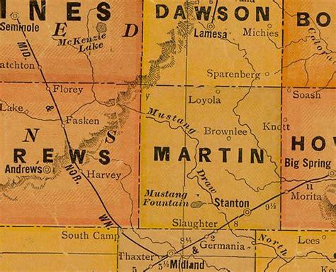 martin county texas map martin county texas