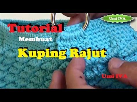 Tas Rajut Handbag 2 Ruang crochet tutorial tali dompet slempang rajut doovi