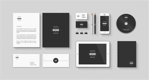 download corporate brand identity free mockup psd kit at