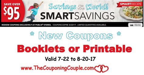 free printable grocery coupons publix new publix smart savings coupon booklet in stores or