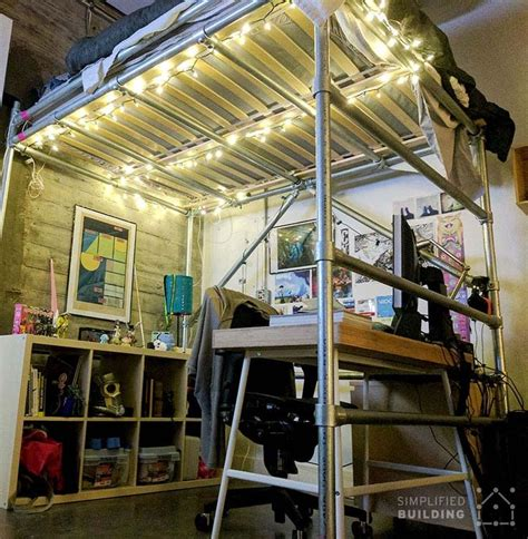 diy loft bed for adults 181 best beds made with pipe images on pinterest loft