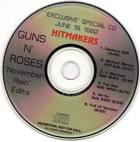 guns  roses november rain edits cd maxi single