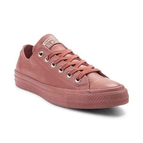 leather sneaker boots converse chuck all blush lo leather sneaker