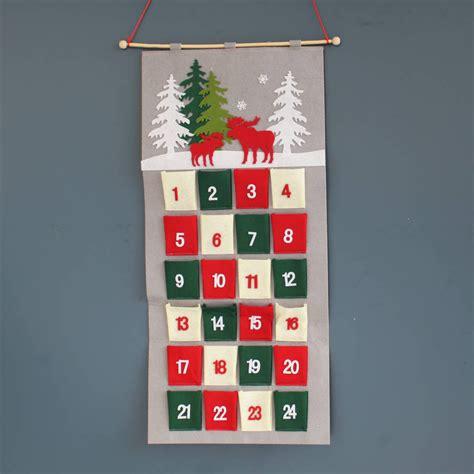 Calendar Hanging Hanging Felt Advent Calendar Posh Totty Designs