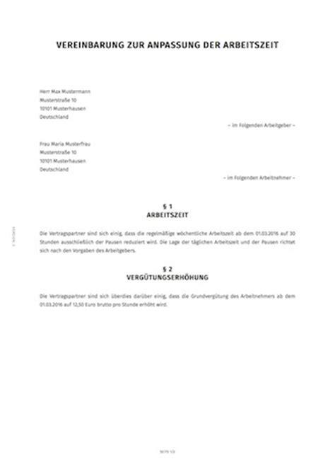 Vorlage Antrag Reduzierung Arbeitszeit 196 Nderungsvereinbarung Zum Arbeitsvertrag Erstellen Smartlaw