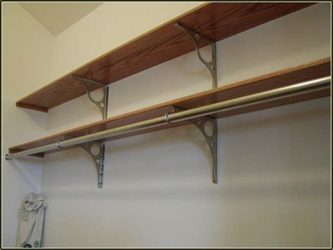 Closet Shelf Brackets And Rods by Metal Closet Rods And Brackets Home Design Ideas