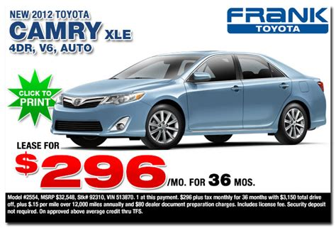toyota truck deals toyota camry lease deals toyota camry lease deals ny nj