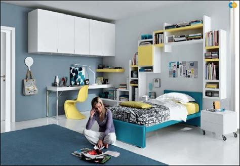 blue bedroom ideas for teenagers simple blue yellow teen bedroom front idea decobizz com
