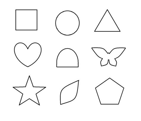 template for shapes image gallery shape templates