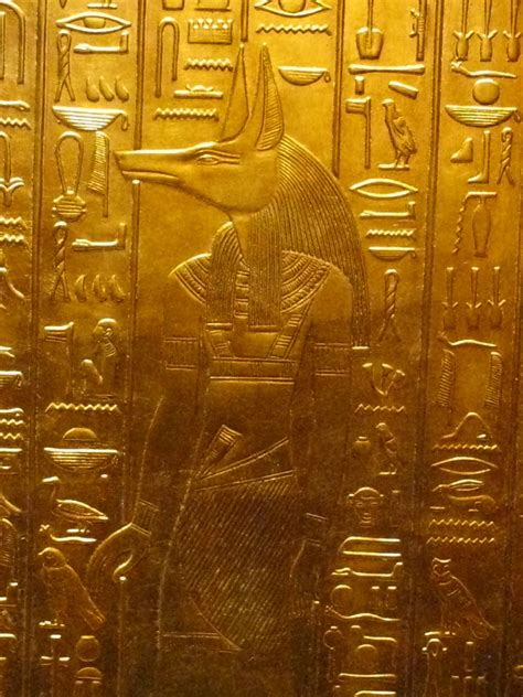 gold egyptian wallpaper ancient egyptian golden frieze of anubis from the tomb of